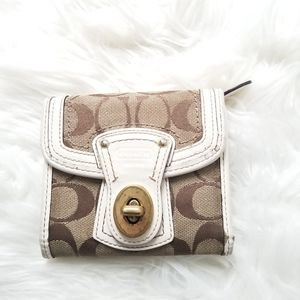 Coach Legacy Signature French Turnlock Wallet